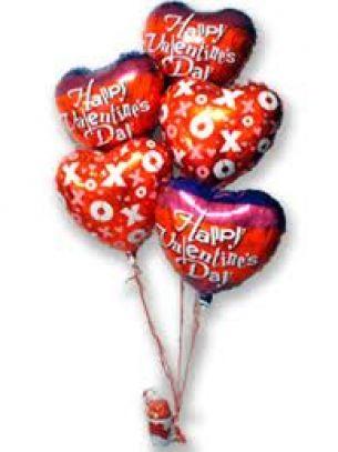 5 Valentine's Balloons