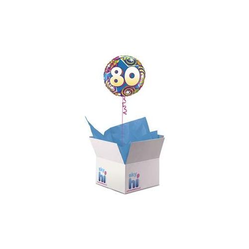 80th Birthday Balloon in a Box
