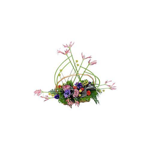 Pink Nerine Basket