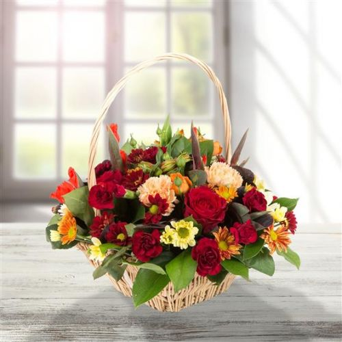 Deep Autumnal Basket Arrangement