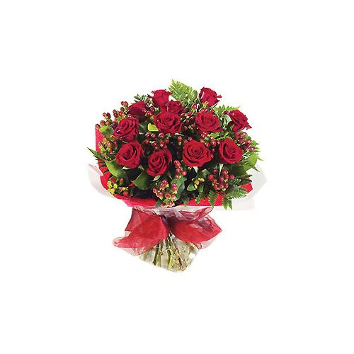 A Dozen Deluxe Red Roses