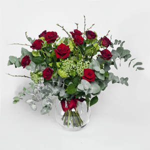 12 Red Roses & Teddy